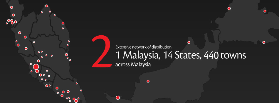 Flyers Media flyers distribution and newspaper insertion service across Malaysia, 1 Malaysia - 14 states, 440 towns