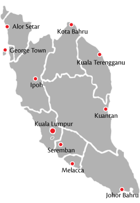 Flyers Media extension network of distribution - 1 Malaysia, 14 states, 440 towns